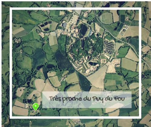 Carte vue satellite Les 2 Gites de la Grimaudiere Proche Puy du fou